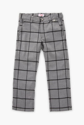Checkered Print Trouser