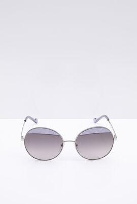 Round Grey Women's Sunglasses