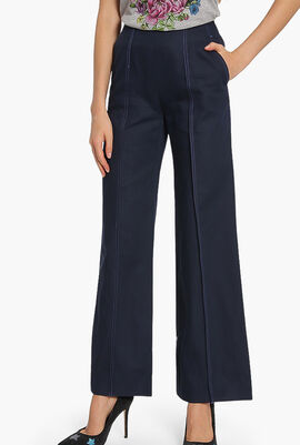Central Seam Cropped Pants
