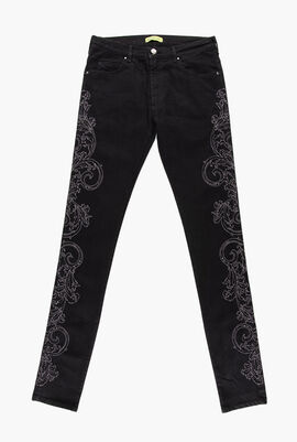Marty New Embroidered Denim Pants