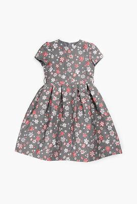Brocade Flower Design Dress