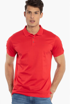 Press Button Polo Shirt