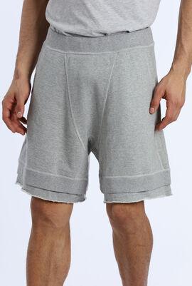 Unfinished Hem Sweat Shorts
