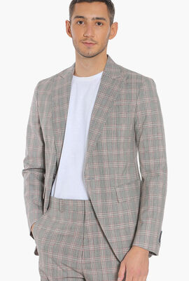 Checkered Pattern Los Angeles Tailored  Fit Suit