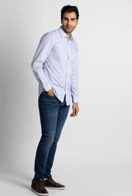 Slim Fit Checked Long Sleeve Shirt