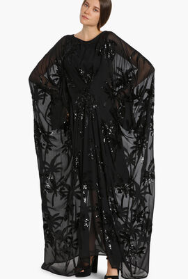 Sonos Palm Sequin Evening Dress