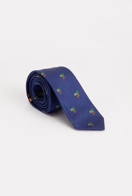 Palm Tree Print Skinny Tie