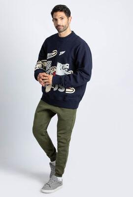 Crocodile Printed Sweatshirt