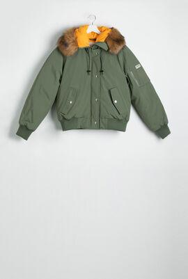 Faux Fur Hoodie Jacket