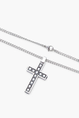 Midnight Cross Pendant Necklace