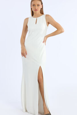 Sleeveless Crepe Gown