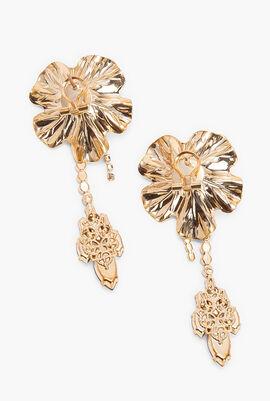Pearl Flower Drop Earrings