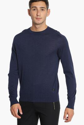 Solid Round Neck Sweater