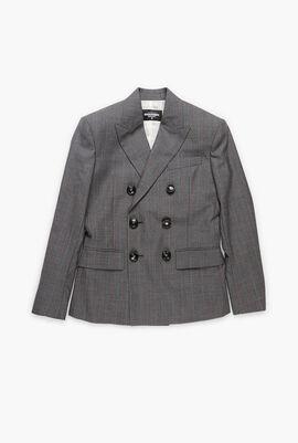 Striped Bogart Tailored Fit Suit