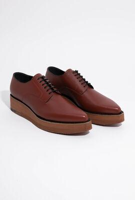 Platform Lace-Up Leather Shoes