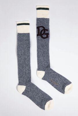Logo Embroidered Midi Socks