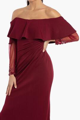 Off Shoulder Ruffles Dress