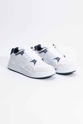 Court Slam Leather White Sneakers