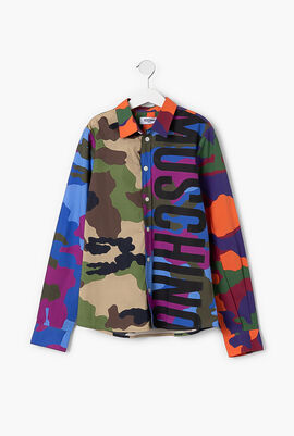 Camouflage Print Long Sleeves Shirt