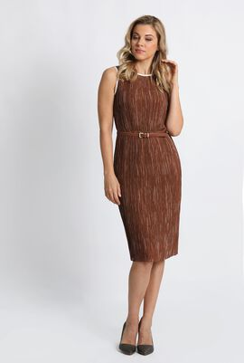 Opzione Pleated Sheath Dress