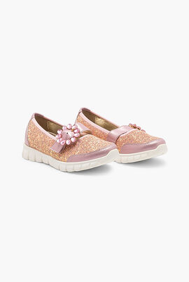 Glittered Slip-On Sneakers