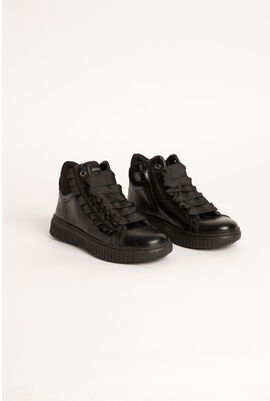 Discomix Leather High-Cut Sneakers