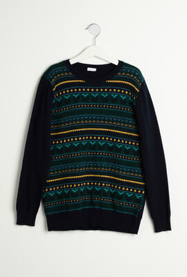 Patterned Knitted  Sweater