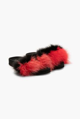 Foxy fur flats