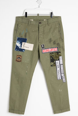 Patched Chino Pants