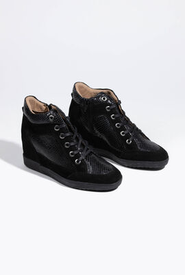 Carum Leather Wedge Sneakers