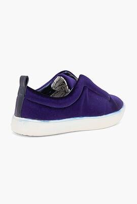 Velvet Slip-On Sneakers