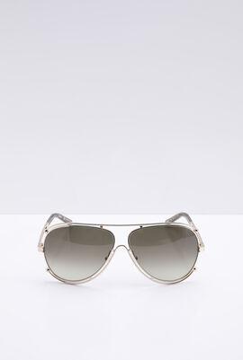 Classic Aviator Grey Women's Sunglasses