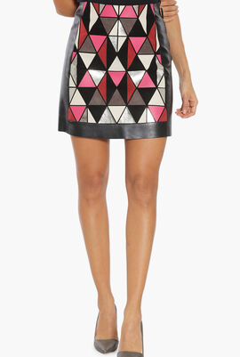 A-Line Leather Skirt