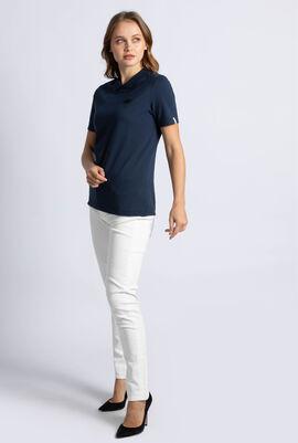 قميص بولو ميني بيكيه بفتحة خلفية على شكل دمعة
