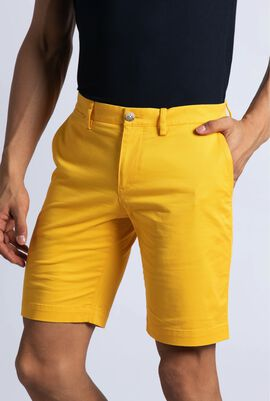 Classic Fit Stretch Gabardine Bermuda Shorts