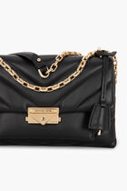Quilted Leather Convertible Shoulder Bag