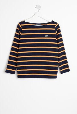 Nautical Style Boat Neck Sweatshirt