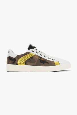 Kioto Camouflage Leather Sneakers