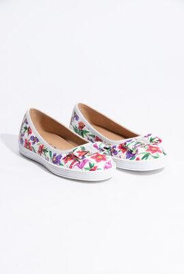 Rufina Floral Printed Mini Flats