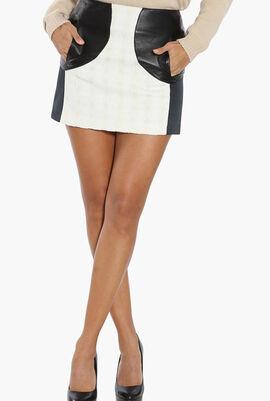 Colourblock Mini Skirt