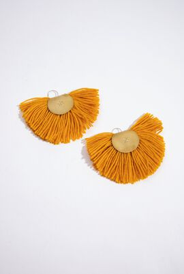 Hand Fan Earrings