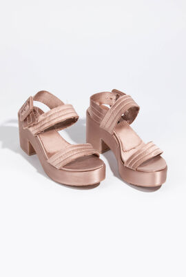 Decima Satin Platform Sandals