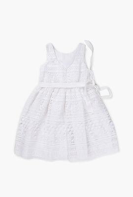 Full Guipure Dress with Belt