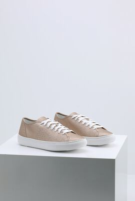 Jane Metallic Rose Gold Sneakers