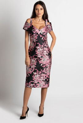 Jacquard Floral Brocade Dress