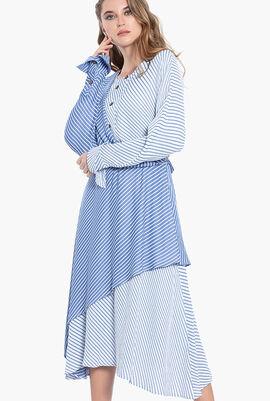 Striped Long Sleeves Dress