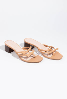 Bow Strappy Thong Sandals