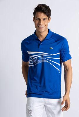 Graphic Print Tech Jersey Polo Shirt