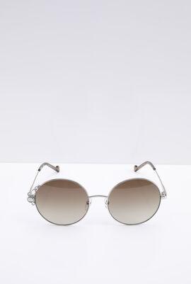 Round Silver Women's Sunglasses