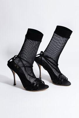 Solid black Sandals
